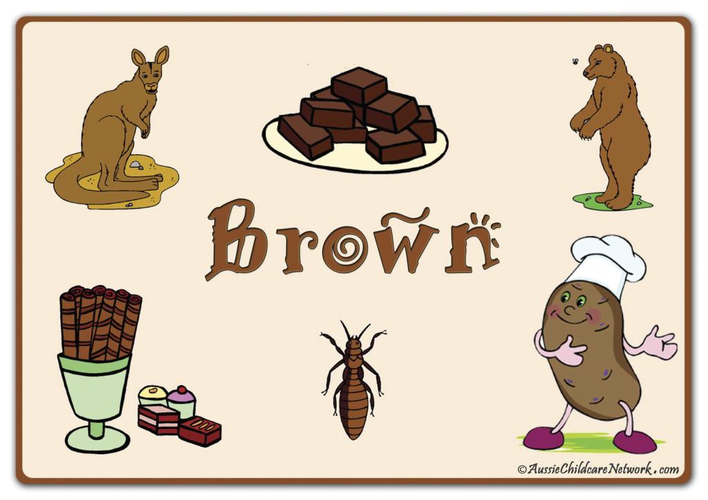 коричневый по английски