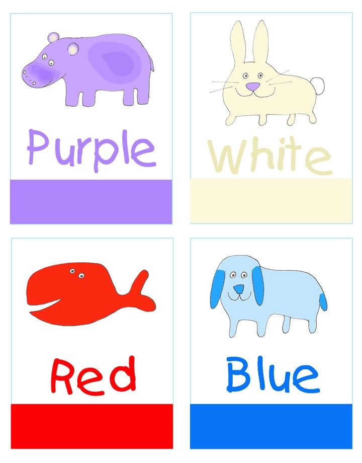 цвета на английском для детей