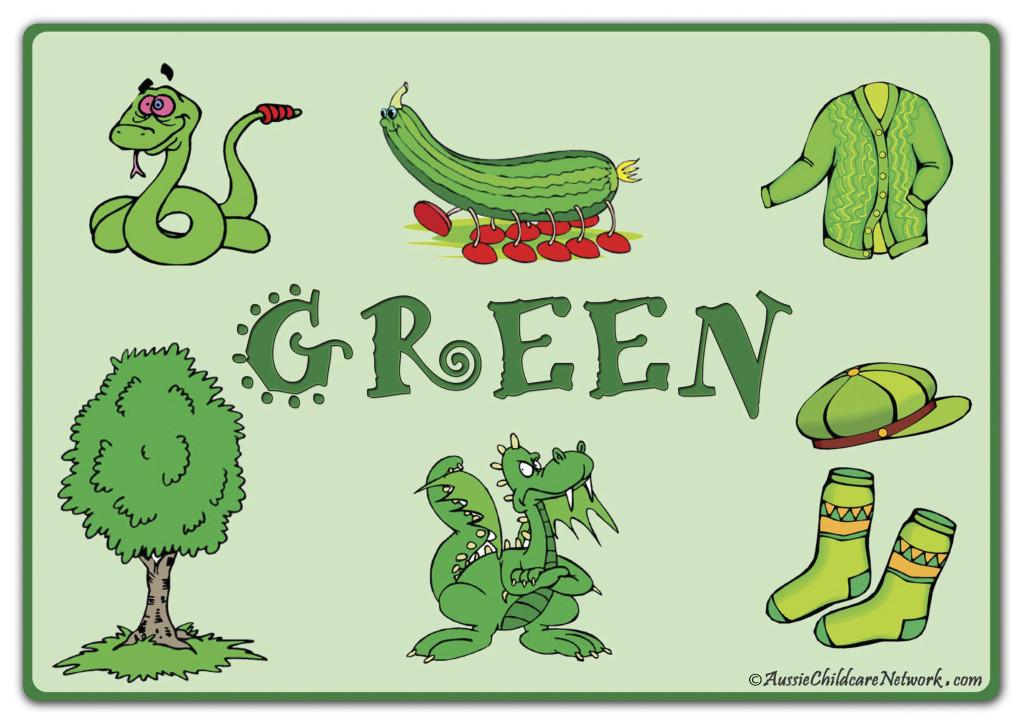 зеленый по английски
