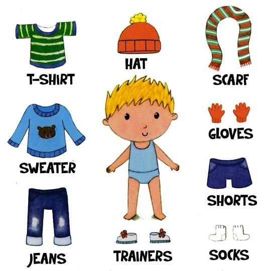 одежда на английском для детей