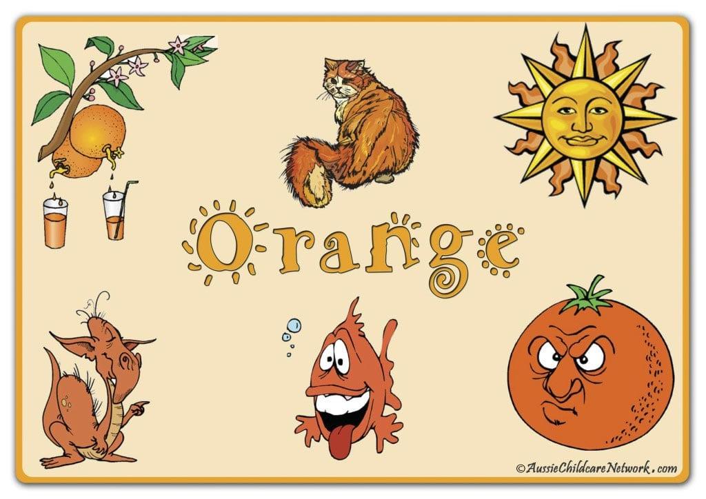 оранжевый по английски