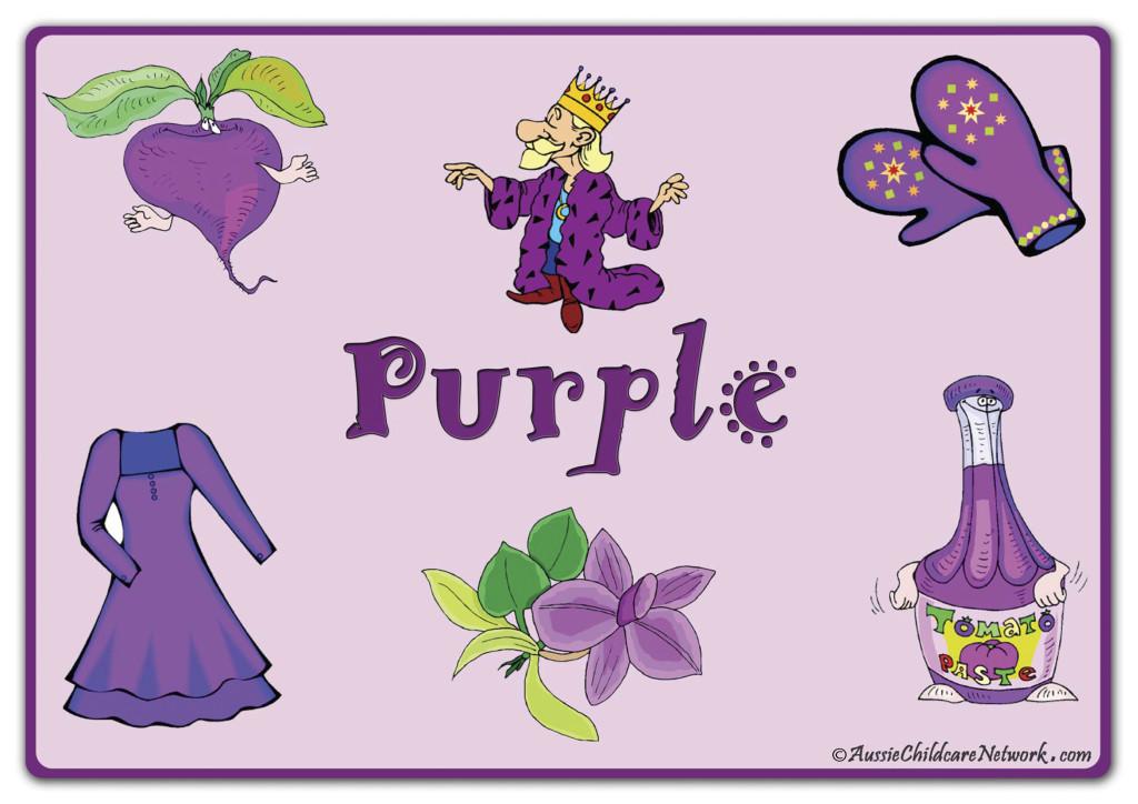 фиолетовый по английски