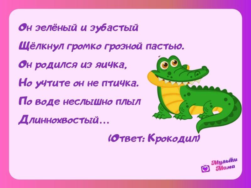 загадки про крокодила