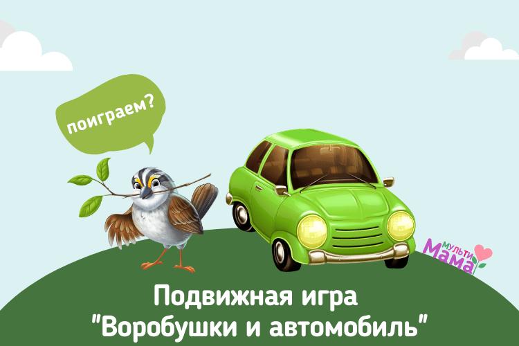 """Подвижная игра """"Воробушки и автомобиль"""""""